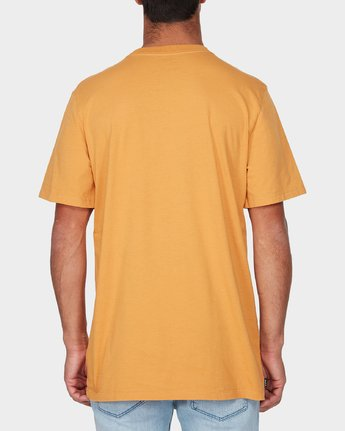 2 Pompei Short Sleeve T-Shirt Yellow R193052 RVCA