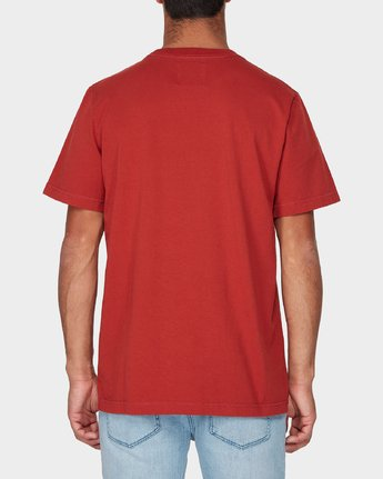 2 RVCA Crest Short Sleeve T-Shirt Red R193055 RVCA