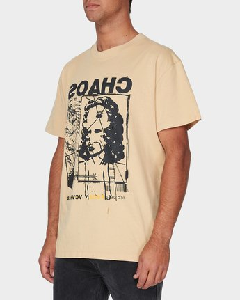 1 Chaotic Short Sleeve T-Shirt Yellow R193062 RVCA