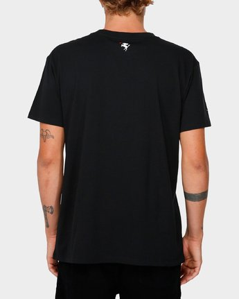 3 RVCA X Highline T-Shirt Black R193066 RVCA