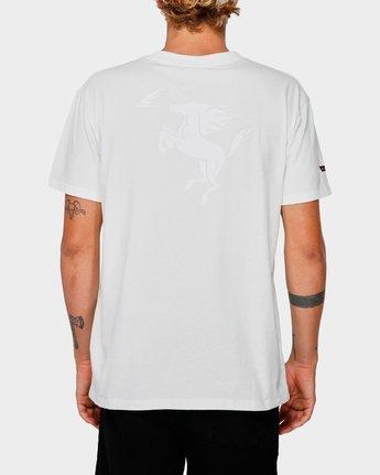 3 Va X Highline Horse T-Shirt White R193067 RVCA