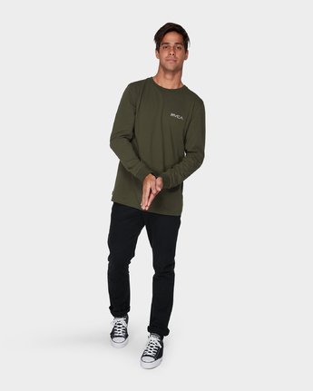 3 RVCA Keyliner Long Sleeve T-Shirt  R193094 RVCA