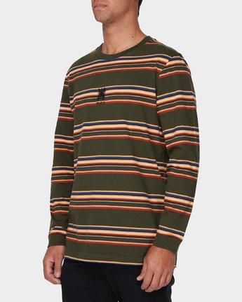 1 RVCA Crest Long Sleeve T-Shirt Green R193097 RVCA