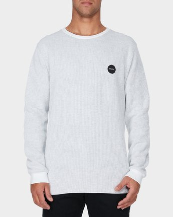 0 Motors Waffle Long Sleeve T-Shirt  R193104 RVCA
