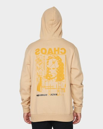 2 Chaos Pullover Hood Yellow R193165 RVCA