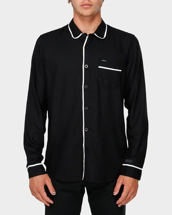 1 RVCA X Highline Shirt Black R193189 RVCA