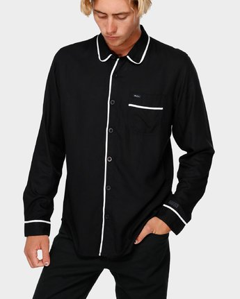 0 RVCA X Highline Shirt Black R193189 RVCA