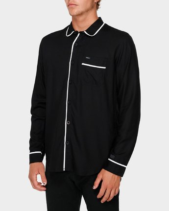 2 RVCA X Highline Shirt Black R193189 RVCA