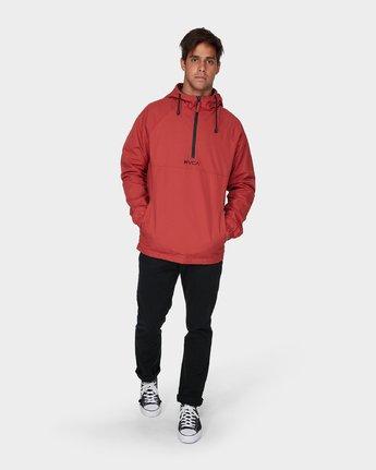 3 Easy As Half Zip Jacket Red R193433 RVCA