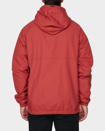 2 Easy As Half Zip Jacket Red R193433 RVCA