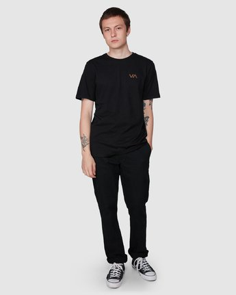 5 Club T-Shirt Black R194041 RVCA