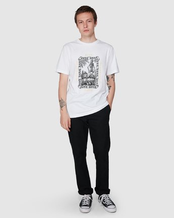 5 Benj Tiger Short Sleeve T-Shirt  R194043 RVCA