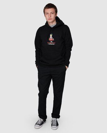 6 Too High To Surf Pullover Black R194156 RVCA