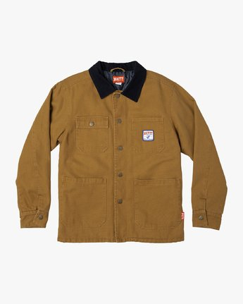 0 Matty Matheson - Chore Shirt Jacket for Men Brown R1JKMARVW9 RVCA