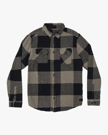 0 Haywire Plaid - Button-Up Flannel Shirt for Men Green R1SHRERVW9 RVCA