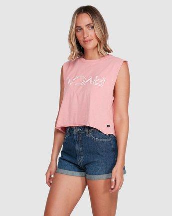 2 Flip N Flock Keyline Muscle Top Pink R205661 RVCA