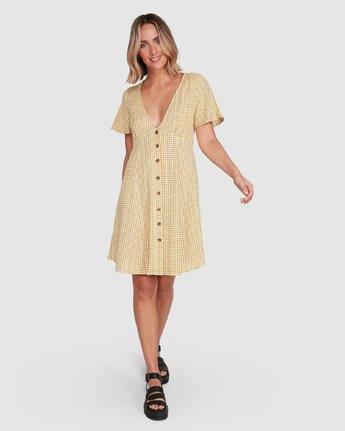 6 Hop Skip Dress Yellow R206753 RVCA