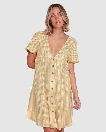 1 Hop Skip Dress Yellow R206753 RVCA