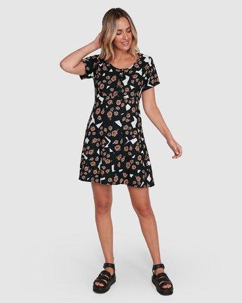 6 Floral Pop Dress Black R206767 RVCA