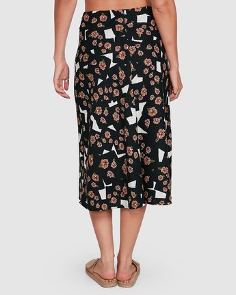 3 Floral Pop Midi Skirt Black R206834 RVCA
