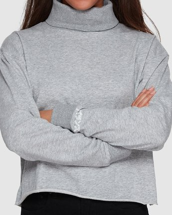 6 Balance Turtleneck Grey R207153 RVCA