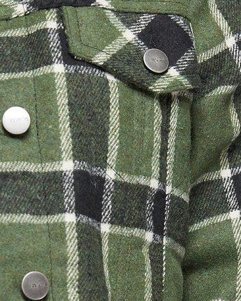 3 Plaid Merc Jacket - Green Green R207435 RVCA