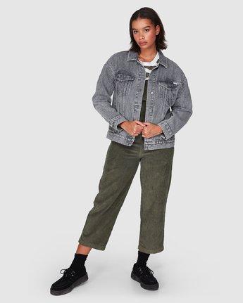 5 Slouch Dnm Jacket - Gry Stripe Grey R207440 RVCA