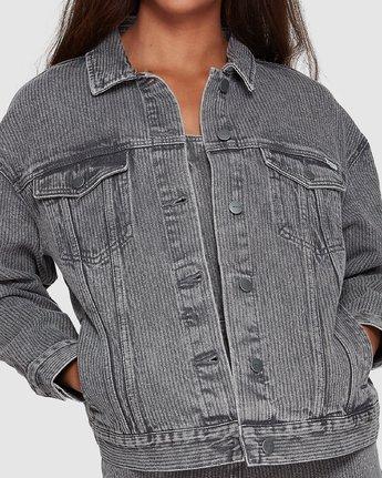 3 Slouch Dnm Jacket - Gry Stripe Grey R207440 RVCA