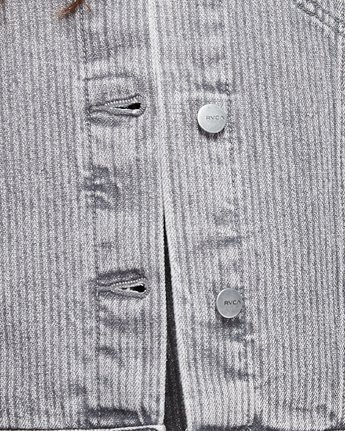 4 Slouch Dnm Jacket - Gry Stripe Grey R207440 RVCA