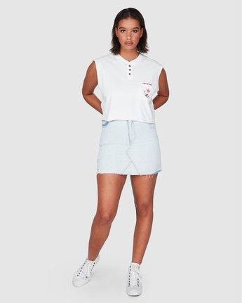 3 Light My Fire Muscle White R207661 RVCA