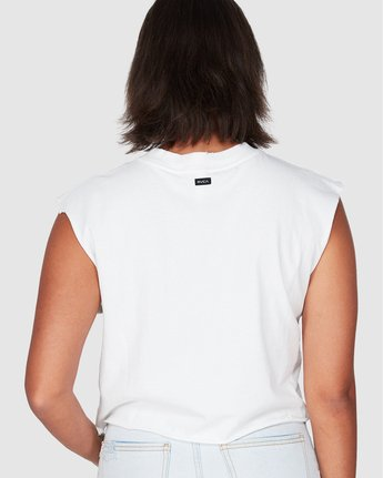 1 Light My Fire Muscle White R207661 RVCA