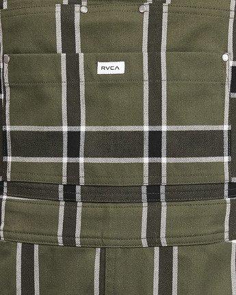 5 Sloucher Plaid Pinny Green R207758 RVCA