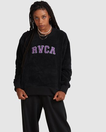 RVCA ARCH FUZZ CREW  R218153