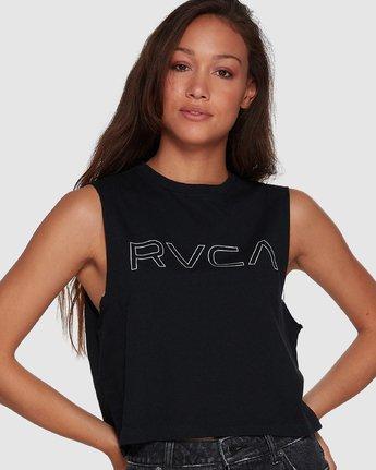 1 Keyline RVCA Muscle Black R282004 RVCA