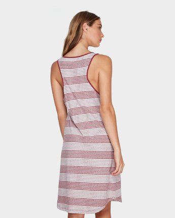 2 Grim Stripe Dress Red R282765 RVCA