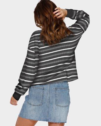 3 Focus On Foz Long Sleeve T-Shirt Black R291091 RVCA