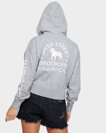 3 Smith Street Hoodie Grey R291153 RVCA
