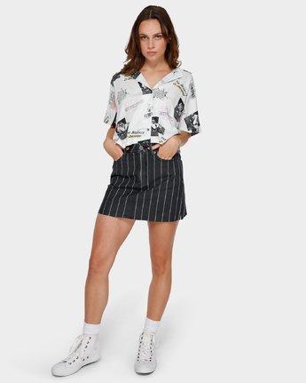 4 Tv Dinner Short Sleeve Shirt White R291181 RVCA