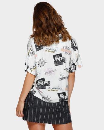 3 Tv Dinner Short Sleeve Shirt White R291181 RVCA