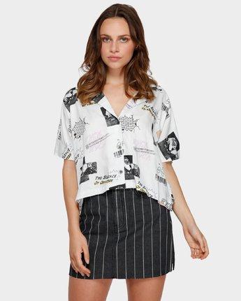 1 Tv Dinner Short Sleeve Shirt White R291181 RVCA