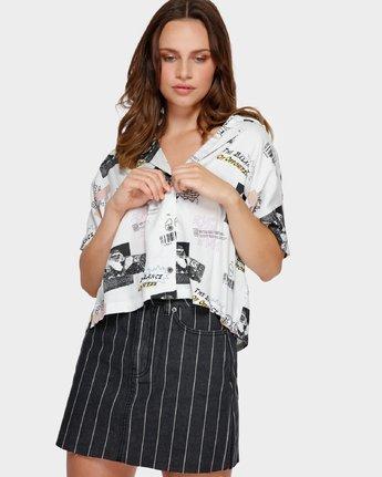 0 Tv Dinner Short Sleeve Shirt White R291181 RVCA