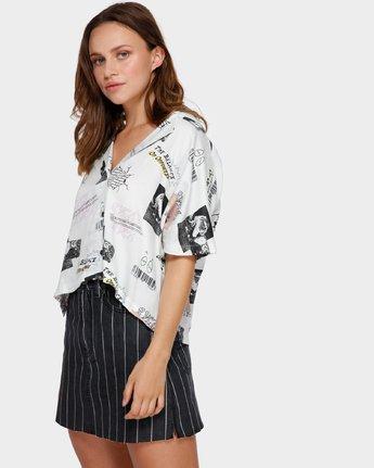 2 Tv Dinner Short Sleeve Shirt White R291181 RVCA