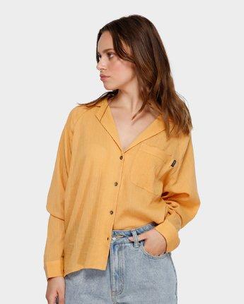 1 Air Weave Shirt Orange R291183 RVCA