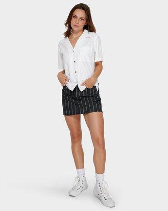 4 Shoutout Short Sleeve Shirt White R291184 RVCA
