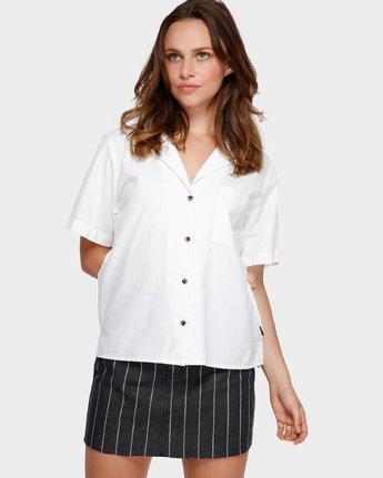 1 Shoutout Short Sleeve Shirt White R291184 RVCA