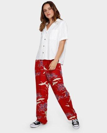 0 Cranes Pj Pant Red R291273 RVCA