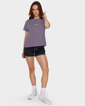 5 Focus Patch Short Sleeve T-Shirt Purple R291682 RVCA