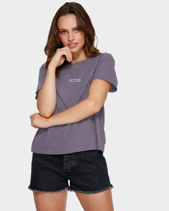 1 Focus Patch Short Sleeve T-Shirt Purple R291682 RVCA