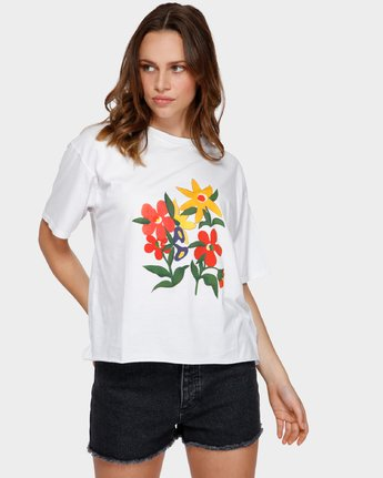 0 BOUQUET TEE White R291691 RVCA