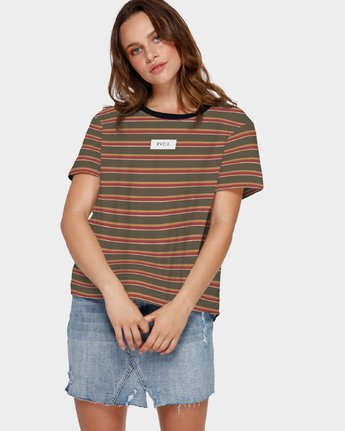 PEACED STRIPE TEE  R291695